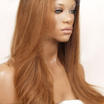 Custom Colored Front Lace Wig 100% Human Hair 1B/27  ******ON SALE******