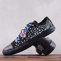 HCXX Converse x BT21 Low Canvas Skate Shoe Black