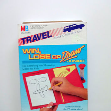 Vintage Win, Lose or Draw Travel Board Game 1988