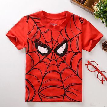 Hottest boys girls summer clothes T-shirt children t shirt kids multicolor super cartoon fashion design