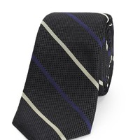 Rag & Bone - Bar Stripe Tie, Polo Black Size ONE