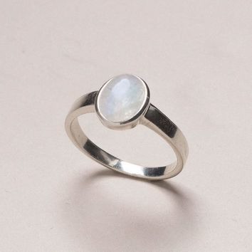 Moonstone Gemstone Ring