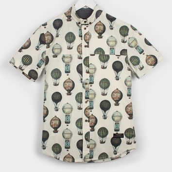 I Love Ugly Frankie Hot Air Balloon Shirt, Antique White