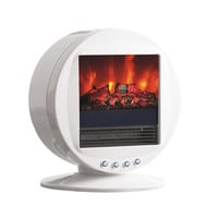 Toasty Fireplace Heater - White