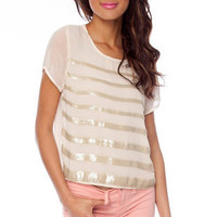 Sequin Across Top in Ivory :: tobi