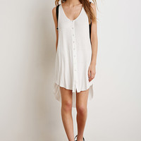 Hooded Button-Down Dress