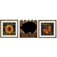 Bella Cucina Wood Wall Art (Set of 3) (2066) - Illuminada