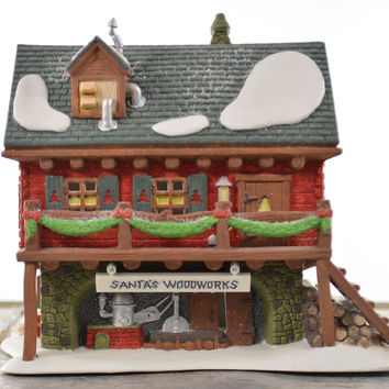 Department 56 North Pole Series Santa's Woodworks Heritage Village Collection