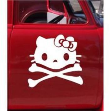 Skull Cat Automobile Car Window Decal Tablet PC Sticker Automobile Window Wall Laptop Notebook Etc. Any Smooth Surface