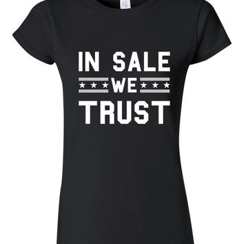 In Sale We Trust T Shirt Unisex ladies T shirt South Siders Baseball Fan T Shirt Baseball Tee Mothers Day Fathers Day Gift Chicago Sox Fan