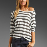 Patterson J. Kincaid Hartley Tee in White/Silver Stripe from REVOLVEclothing.com