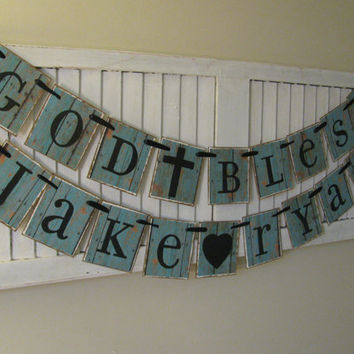 Baptism Banner First Communion Banner Child Dedication Garland Bunting Sign Can Custom Design and Colors