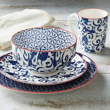 Better Homes and Gardens Piers Blue Mix and Match 16 Piece Dinnerware Set - Walmart.com