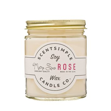 Maine Sea Rose Scented Soy Wax Candle