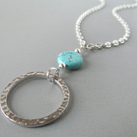 Silver Glasses Lanyard with Turquoise Green