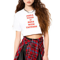 The Pizza Weed & Boys With Tattoos Tee