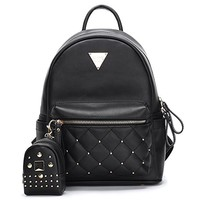 Cute Small Backpack Mini Purse Casual Waterproof Daypacks Leather for Teen Girls and Women