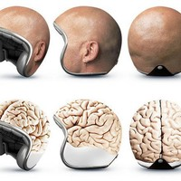 Bald head motorcycle helmet