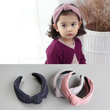 Fashion Baby Hair Hoop Leisure Girl Twisted Headband Wide Band Princess Turban Hairband Wedding Party Hair Accessories