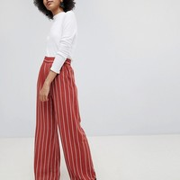 Miss Selfridge Stripe Wide Leg Pants at asos.com
