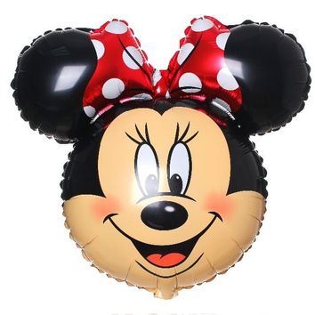 82CM in Random Minnie Mickey Mouse Balloons Cartoon Animation Foil Hydrogen Inflatable Balloons Kids Toys Gift party supplies