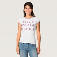 Personalize Women's Bella+Canvas Ringer T-Shirt