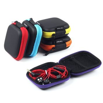 Square Carrying Cases for Cellphone Earphone Headset Earbuds Pouch Storage bags