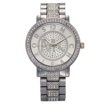 Awesome New Arrival Trendy Designer's Great Deal Good Price Gift Hot Sale Stylish Diamonds Alloy Stainless Steel Band Ladies Quartz Watch [4918308548]