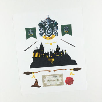 ECLP | Harry Potter | Slytherin House | 11 stickers