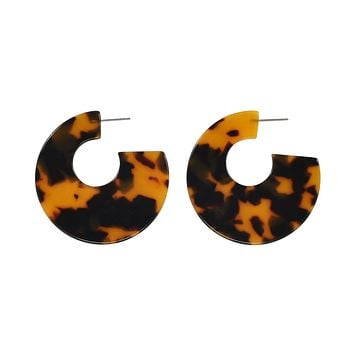 Curved Lucite Hoops