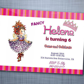 Fancy Nancy Girl, Birthday Party, Invitation Card Design