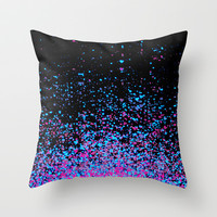 infinity in blue and purple Throw Pillow by Marianna Tankelevich