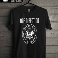 1D One Direction Ramones Harry Style T-SHIRT FOR MAN SHIRT,WOMEN SHIRT **