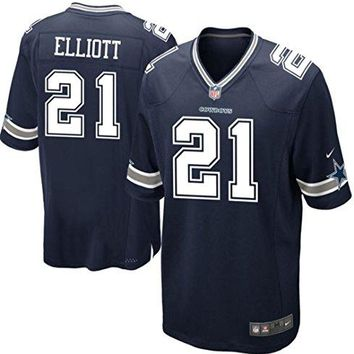 Ezekiel Elliott Dallas Cowboys Navy Nike Game Youth Jersey