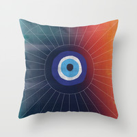 Evil Eye Throw Pillow by DuckyB (Brandi)