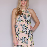 Coming Up Roses Dress - Blush