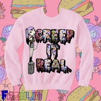 UNISEX Creep It Real Slimepunk Pastel Grunge Sweatshirt.