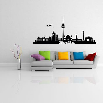 Berlin Skyline Wall Decal