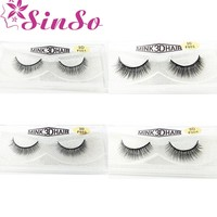 Mink Eyelashes 3D Mink Lashes Thick Crisscross Winged Eyelashes Cruelty Free Mink cilios posticos Full Strip Lashes Mink In Box