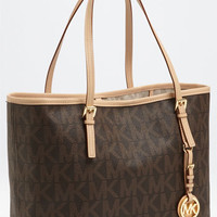 Women's MICHAEL Michael Kors 'Jet Set - Small' Travel Tote - Brown