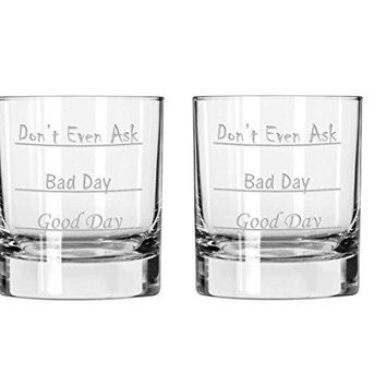 Funny Scotch Whiskey Glass Unique OldFashioned Liquor Glass Cup with Text for Adult Men and Women