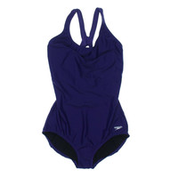 Speedo Womens Keyhole Back Compression One-Piece Swimsuit