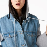 Monki | Jackets & coats | Denim sweatshirt jacket
