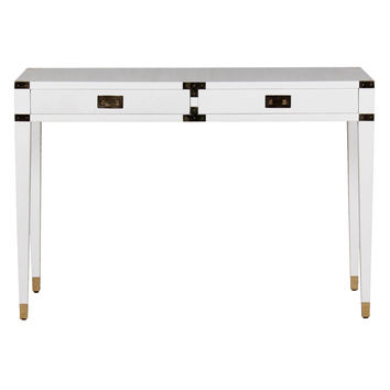 Sparrow Lake Lacquer Console Table - White