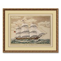 ''The Clipper Ship, Anglesey, 1150 Tons'' Framed Art Print (Vanilla)