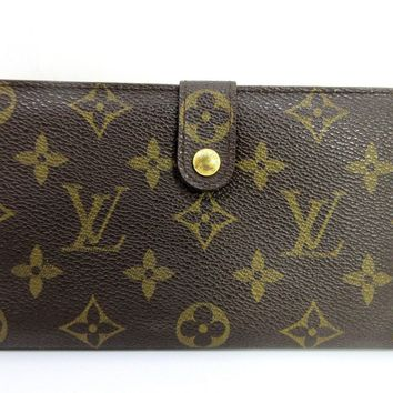 Auth Louis Vuitton Monogram Continental Clutch T61217 Long Wallet 53029