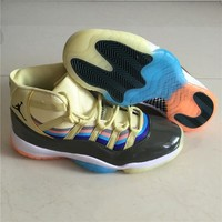 Air Jordan 11 Retro 3D Colorful Basketball Shoes