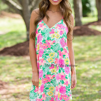 Tropical Oasis White Floral Dress