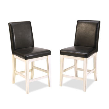Home Styles Furniture 5022-89 Nantucket Distressed White Bar Stool
