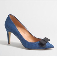 PUMPS WITH BOW STRIPE blue size 8.5 - 9.5